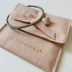 Judith Ripka | 18k Gold + Sterling Bangle Bracelet
